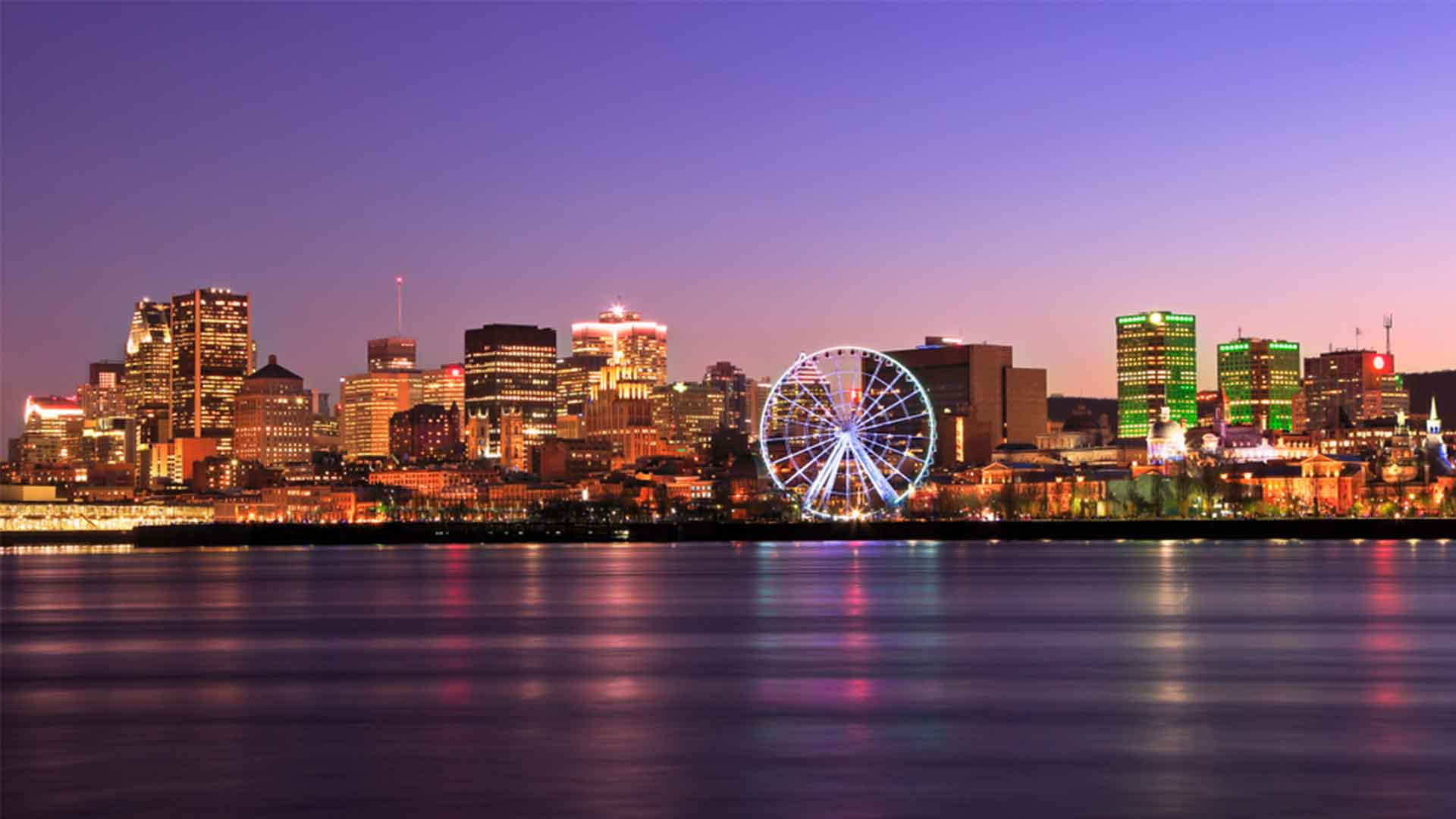 The Complete Vacation Travel Guide To Montreal Canada Zen Tripstar Montreal skyline at dusk and Saint Lawrence River in Quebec Canada
